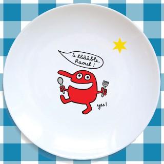 Assiette plate LE ROUGE