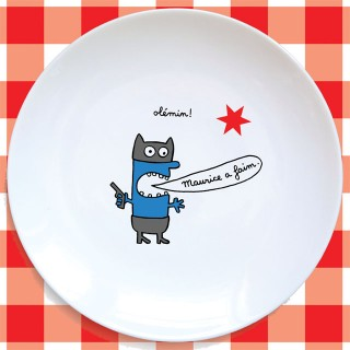 Assiette plate LE BLEU FONCÉ