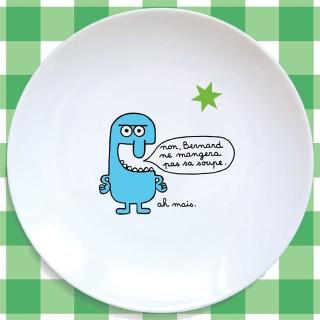 Assiette plate LE BLEU CLAIR