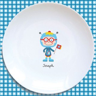 Assiette plate COSMONAUTE