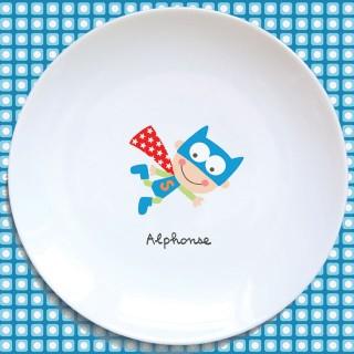 Assiette plate SUPER HÉROS