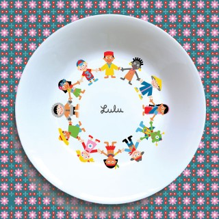 Assiette creuse RONDE DES ENFANTS