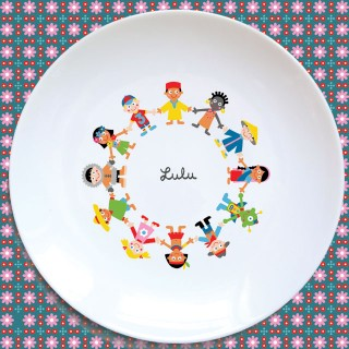 Assiette plate RONDE DES ENFANTS