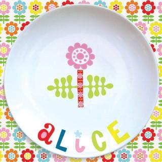 Assiette plate FLEUR ROSE