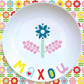 Assiette plate FLEUR BLEUE