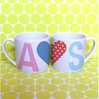 2 mugs COEURS